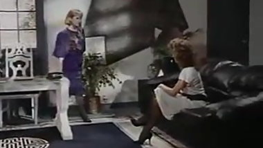 Sexy Lesbians playing on couch. Vtg, Stockings