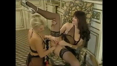 Brunet in lingerie anal fucked and fisted