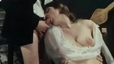 Vintage hairy pussy under transparent dress