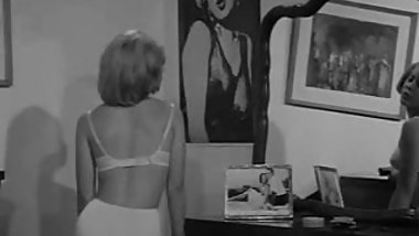 Chubby Blonde Undressing and Posing (1960s Vintage)