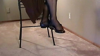 Sexy ballet flats shoeplay dangling