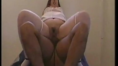 Vintage Big Butt Chubby Nurse Threesome with Facial